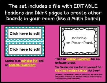 Benchmark Advance Kindergarten Focus Wall Posters  (Ca. & National)