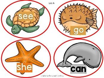 5n. Benchmark Advance Kindergarten HFW A-D Fishing Game (38 Words)