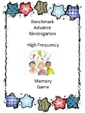 Benchmark Advance Kindergarten High Frequency Word Memory Game