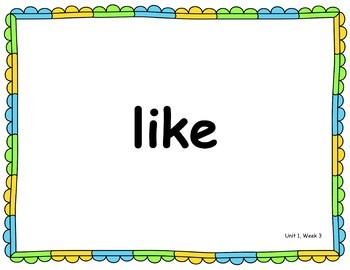 Benchmark Advance Kindergarten High Frequency Word PowerPoint (B.A. Companion)