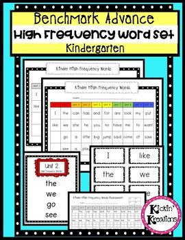 Benchmark Advance Kindergarten High Frequency Word Set