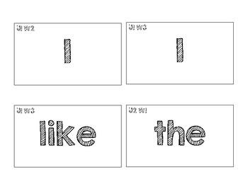 Benchmark Advance Kindergarten (KINDER) High Frequency Word Cards-Chalkboard
