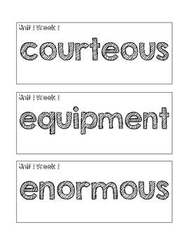 Benchmark Advance Kindergarten (KINDER) Vocabulary Cards-Chalkboard Style