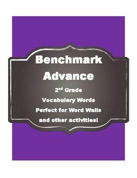 Benchmark Advance Kindergarten (Kinder) vocabulary cards-Simple Style