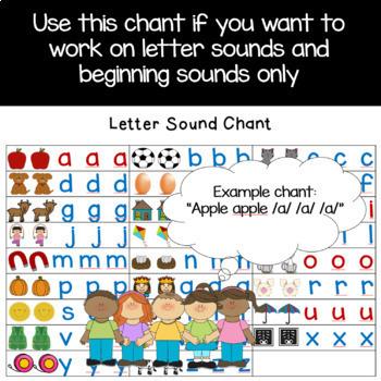 Benchmark Advance Kindergarten Letter Chants