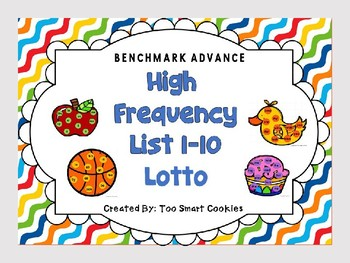 5k. Benchmark Advance Kindergarten Lotto Unit 1-10 (32 words)