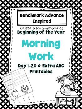 Benchmark Advance Kindergarten Morning Work Day 1-20