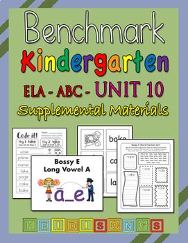 Benchmark Advance Kindergarten Unit 10 - Supplemental Materials