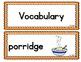 Benchmark Advance Kindergarten Weekly Vocabulary Cards Units 1 - 10: California