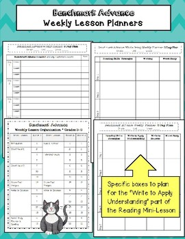 Benchmark Advance Whole Group Lesson Planner