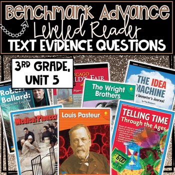 Benchmark Advance, Leveled Reader Companion Pages, 3rd Grade, Unit 5!