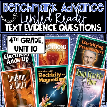 Benchmark Advance, Leveled Reader Companion Pages, 4th Grade, Unit 10!