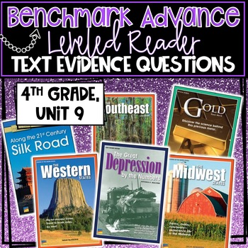 Benchmark Advance, Leveled Reader Companion Pages, 4th Grade, Unit 9!