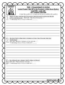 Benchmark Advance Leveled Reader Questions for Unit 1- 4th (FOURTH) Grade