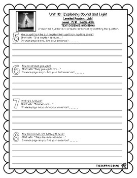 Benchmark Advance Leveled Reader Questions for Unit 10-  1st (FIRST) Grade