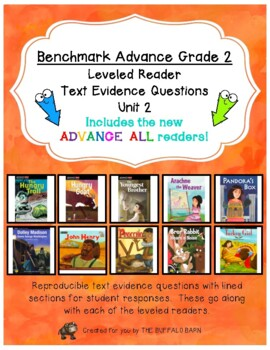 Benchmark Advance Leveled Reader Questions for Unit 2-  2nd (SECOND) Grade