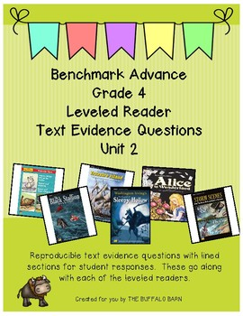 Benchmark Advance Leveled Reader Questions for Unit 2- 4th (FOURTH) Grade