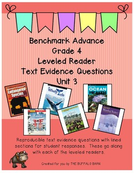 Benchmark Advance Leveled Reader Questions for Unit 3- 4th (FOURTH) Grade