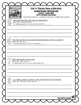 Benchmark Advance Leveled Reader Questions for Unit 4-  1st (FIRST) Grade