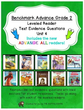 Benchmark Advance Leveled Reader Questions for Unit 4-  2nd (SECOND) Grade