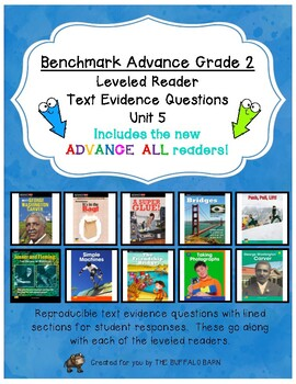 Benchmark Advance Leveled Reader Questions for Unit 5-  2nd (SECOND) Grade