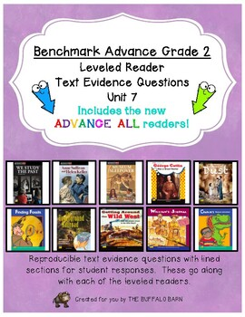 Benchmark Advance Leveled Reader Questions for Unit 7-  2nd (SECOND) Grade