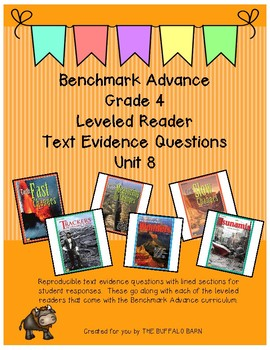 Benchmark Advance Leveled Reader Questions for Unit 8- 4th (FOURTH) Grade