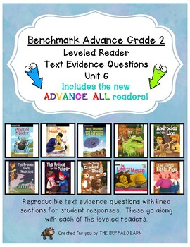 Benchmark Advance Leveled Reader Questions for Unit 6- 2nd (SECOND) Grade