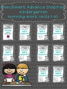 1. Benchmark Advance Bundle Kinder Morning Work (All Units)