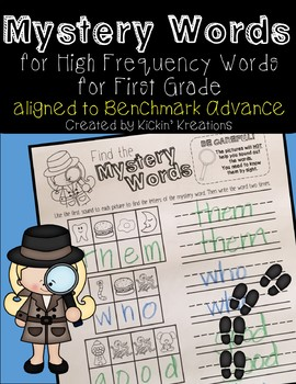 Benchmark Advance Mystery Words 1st Grade (Ca. and National)