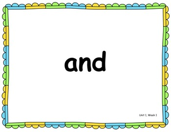 Benchmark Advance -Out of CA Users- 1st Grade High Frequency Word PowerPoint