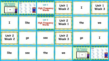 Benchmark Advance -Out of CA users- Kindergarten High Frequency Word PowerPoint