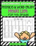 Benchmark Advance Phonics and Word Study MEGA LIST for 4th Grade