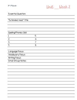 Benchmark Advance Planner Inserts 3rd-6th Grade