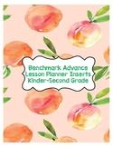 Benchmark Advance Planner Inserts K-2nd Grade