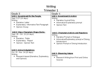 Benchmark Advance Planning Guide WRITING-First Trimester