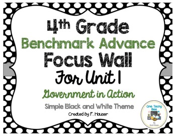Benchmark Advance Program - 4th Grade Focus Wall - Unit 1