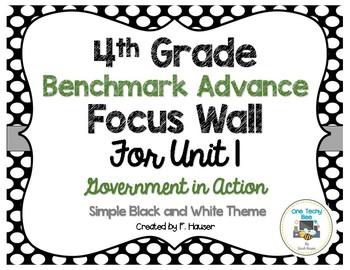 Benchmark Advance Program - 4th Grade Focus Wall - Unit 1