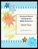 Benchmark Advance RLA Weekly Assessment Grade 1 Unit 10 (3 weeks)