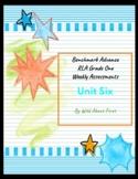 Benchmark Advance RLA Weekly Assessment Grade 1 Unit 6 (3 weeks)