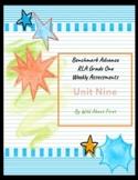 Benchmark Advance RLA Weekly Assessment Grade 1 Unit 9 (3 weeks)
