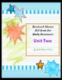 Benchmark Advance RLA Weekly Assessment Grade 1 Unit 2 (3 weeks)