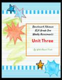 Benchmark Advance RLA Weekly Assessment Grade 1 Unit 3 (3 weeks)