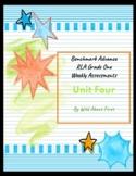 Benchmark Advance RLA Weekly Assessment Grade 1 Unit 4 (3 weeks)