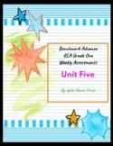 Benchmark Advance RLA Weekly Assessment Grade 1 Unit 5 (3 weeks)