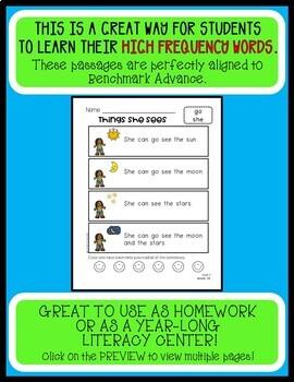 Benchmark Advance SIGHT WORD PASSAGES - First Grade