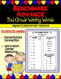 Benchmark Advance Second (2nd) Grade  Weekly Word Lists