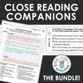 Benchmark Advance Second Grade Close Reading Companions BUNDLE! (Units 1-10)