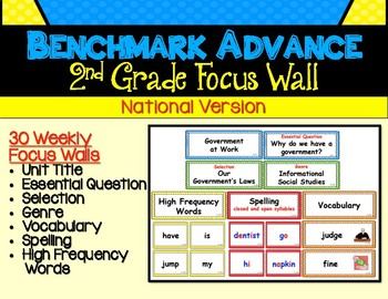 Benchmark Advance Second Grade Focus Wall Units 1 - 10 (National)