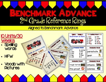 Benchmark Advance Second Grade Personal Reference Rings (Mini Anchor Charts)